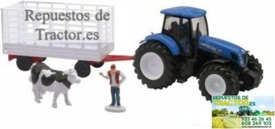 TRACTOR NEW HOLLAND + REMOLQUE