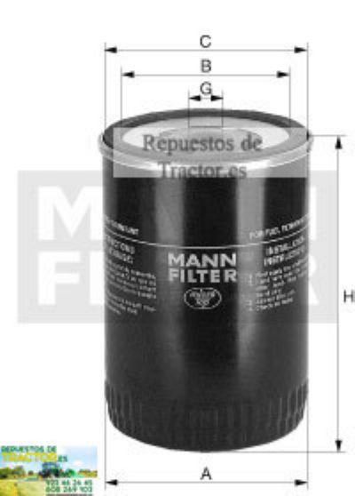 FILTRO COMBUSTIBLE MANN