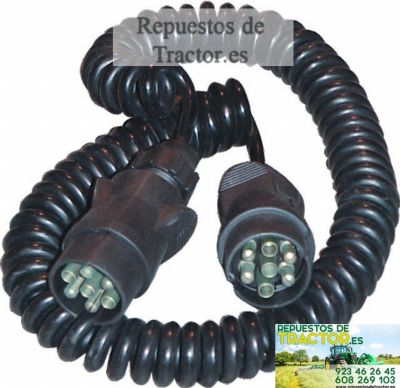 CABLE ESPIRAL 5M ENCHUFE