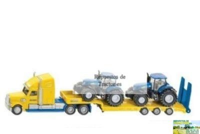 CAMION CON TRACTORES NEW HOLLAND