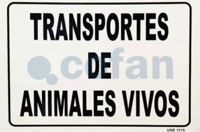 PLACA ANIMALES VIVOS